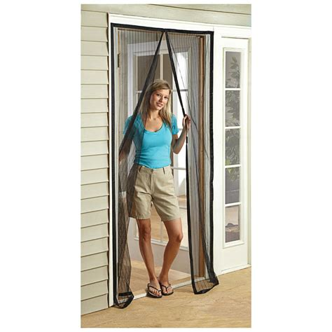 magnetic mesh screen door castlecreek magnetic mesh door screen 2 pack 581198
