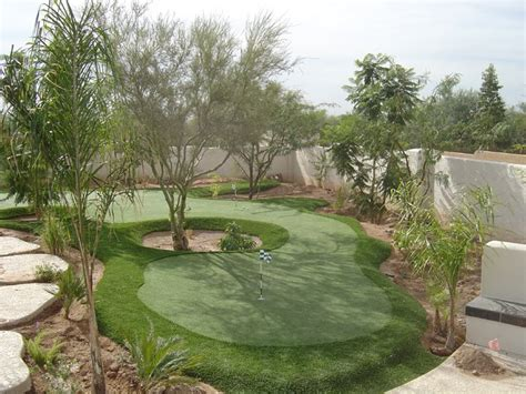 Backyard Artificial Putting Green by Synthetic Grass Artificial Putting Greens Custom Design