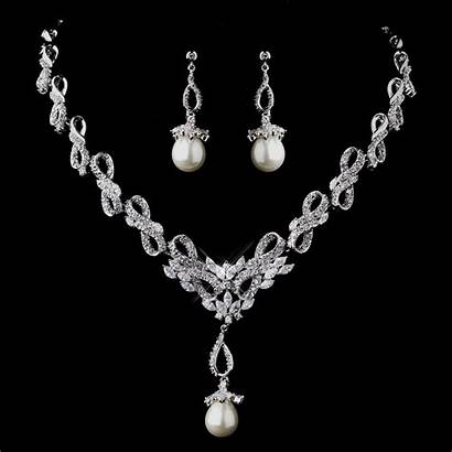 Necklace Pearl Jewelry Cz Dazzling Bridal Elegant