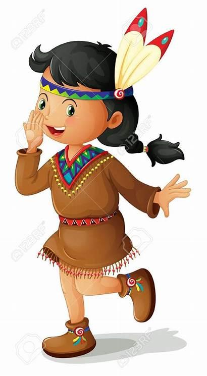 Indian Clipart American Clip Indianer Kinder Clipartix