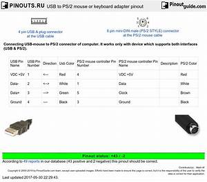 Usb To Ps  2 Mouse Or Keyboard Adapter Pinout Diagram