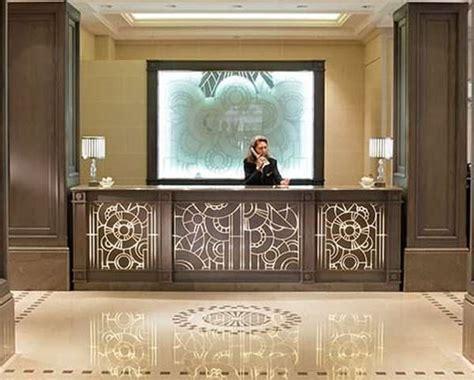 Wooden reception desk - INCLUSION - LAMELLUX