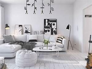 White scandinavian home 3d by sachin mahajan follow for Interior design and decor pdf