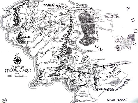map  middle earth      find