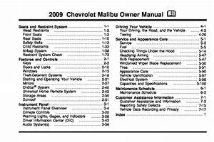 2009 Chevrolet Malibu Owners Manual