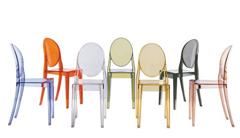 kartell chaises chaise empilable ghost transparente