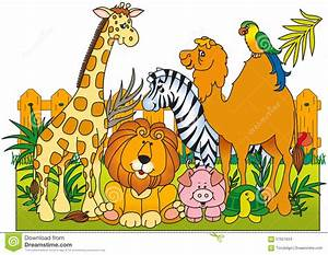 Group Of Zoo Animals Clipart - ClipartXtras