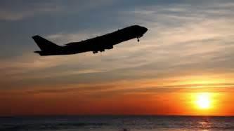 Plane Taking Off at Night