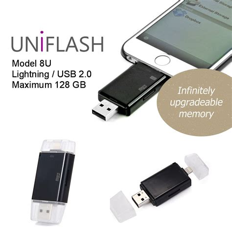 external storage for iphone uniflash 32 128gb external drives iphone 4 6 indiegogo
