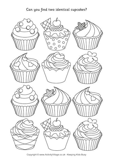 find  identical cupcakes puzzle