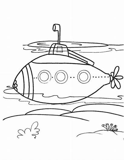 Submarine Coloring Pages Modern Drawing Printable Underwater