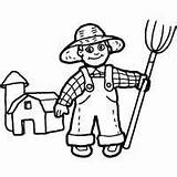 Overalls Farmer Coloring Surfnetkids Pages sketch template