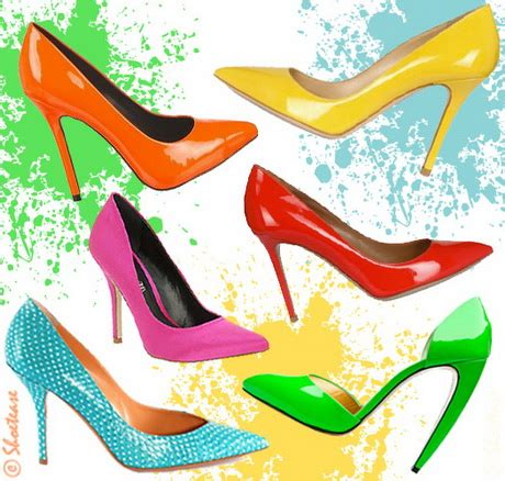 colored pumps bright colored heels