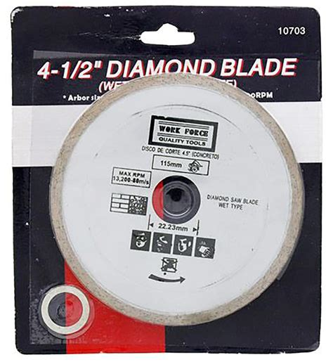 Florcraft Tile Saw 4 1 2 by 4 1 2 Inch Saw Blade 5 8 Or 7 8 Inch Arbor 4 5