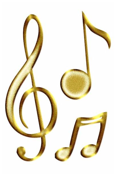 Notes Gold Transparent Musical Forgetmenot Clip Clipart