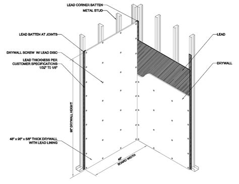 lead lined drywall plywood construction nelco