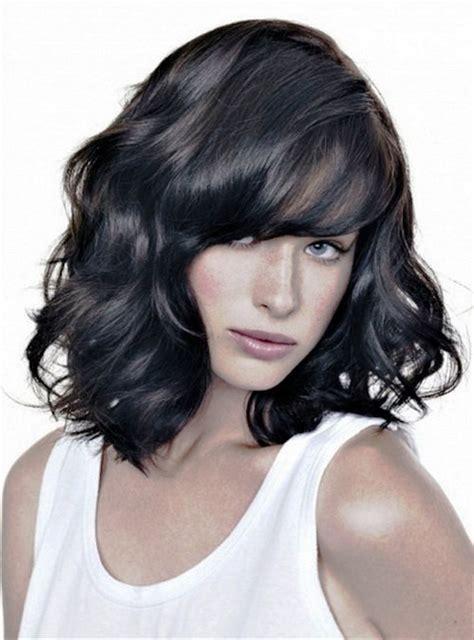 pictures  medium wavy hairstyles  black hair