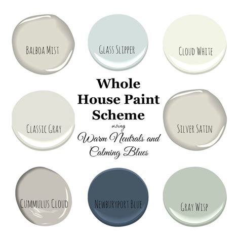 My Home Paint Colors Warm Neutrals and Calming Blues