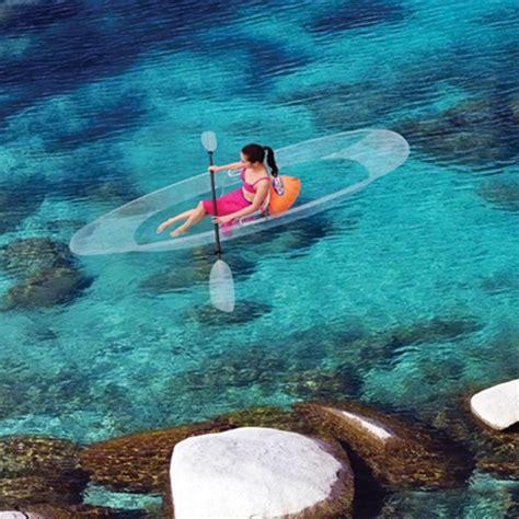 kreabel canap the transparent canoe kayak hammacher schlemmer