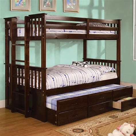 xl trundle bed children bedroom set bunk bed cm bk458q xl