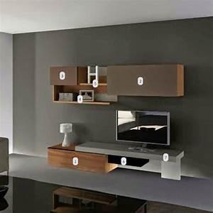 Meuble Tv 1m : dix meubles tv suspendus au mur ~ Teatrodelosmanantiales.com Idées de Décoration