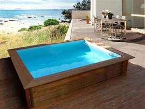 piscine bois carree quot lulu quot 226 x 226 x 071 m 80485 With photo de piscine en bois