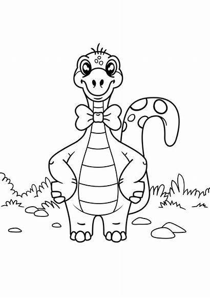 Coloring Bow Dinosaur Dino Dinosaurier Ausmalbilder Colorear