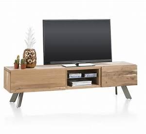 Tele 190 Cm : meuble t l 1 tiroir 1 porte rabattante 2 niches garda xooon ~ Teatrodelosmanantiales.com Idées de Décoration