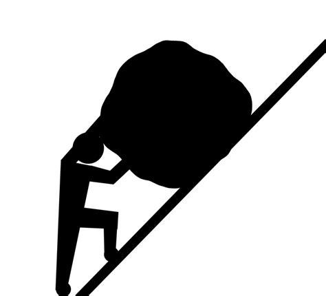 struggle push uphill  image  pixabay