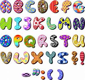 colored fabric sticker alphabet vector material my With colored letter stickers