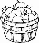 Apple Coloring Candy Clip Fall Apples Picking Colouring Sheet Clipart Template Fruit sketch template