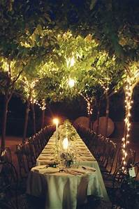 13 unique ideas to use at your next outdoor party for Outdoor wedding reception lighting