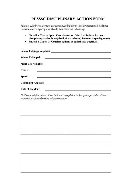 46 Effective Employee Write Up Forms [+ Disciplinary