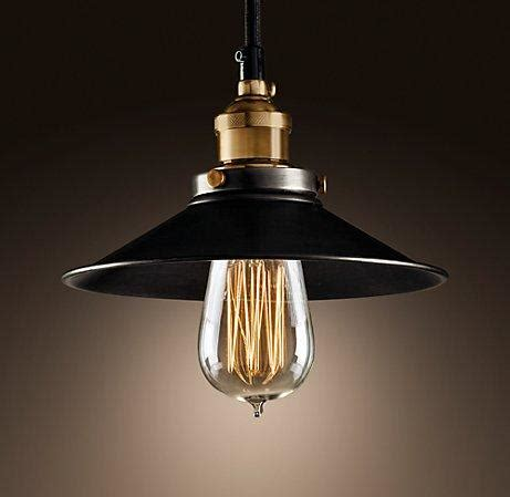 metal filament pendant ceiling restoration hardware