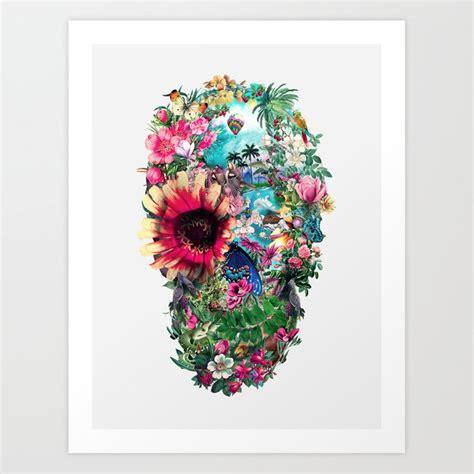 Summer Skull Art Print Rizapeker Society