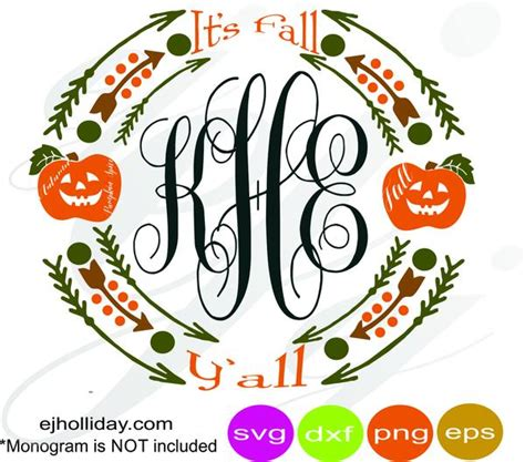 fall yall pumpkin spice frame svg eps dxf png vector