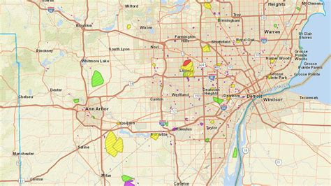 dte energy outage map severe storms knock  power