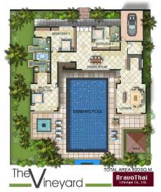 U Shaped Floor Plan by Thailand House Plans 171 Unique House Plans