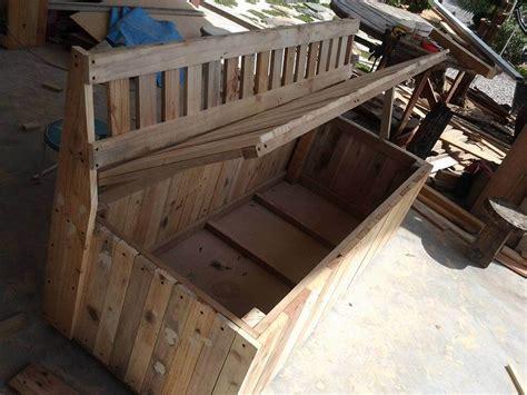 pallet outdoor bench  storage box  pallets