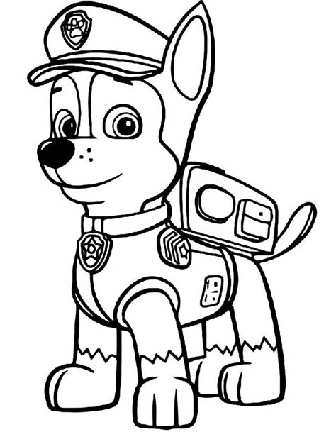 Chase Paw Patrol coloring pages to download and print for