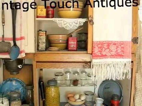 antique kitchen display  hoosier cabinet youtube