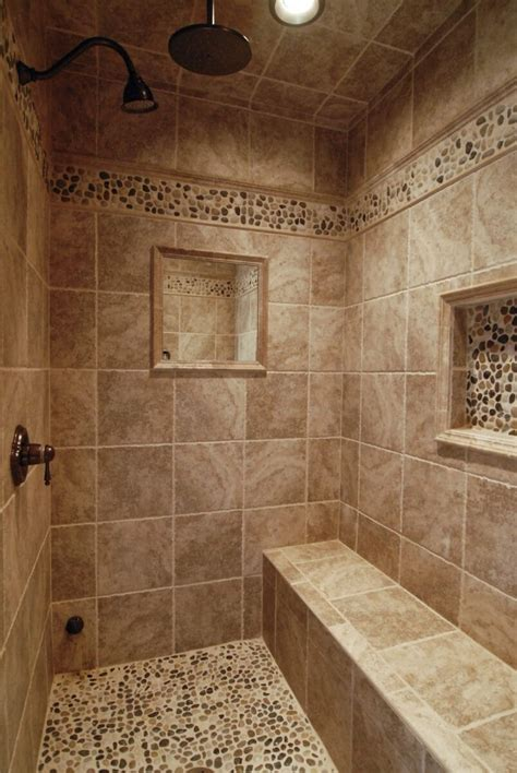 love  walk  shower gorgeous beige tile  river
