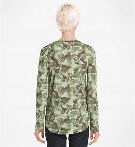 Tee Shirt Camouflage Femme : tee shirt manches longues motif camouflage esprit en kaki pour femme galeries lafayette ~ Nature-et-papiers.com Idées de Décoration