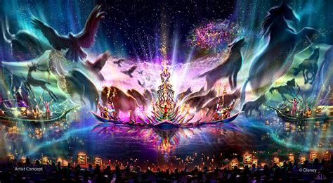 disney world light show rivers of light lagoon show announced for disney 39 s animal