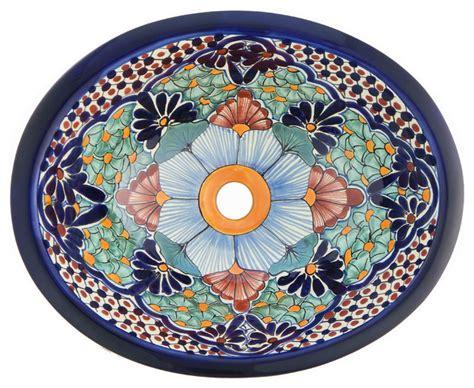 mexican hand painted sinks shop houzz color y tradicion mexican talavera ceramic