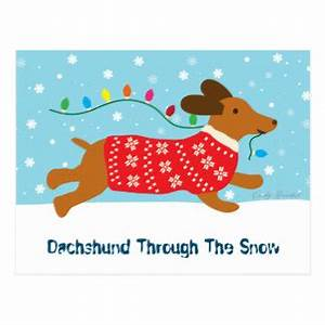Dachshund Through The Snow Gifts T Shirts Art Posters