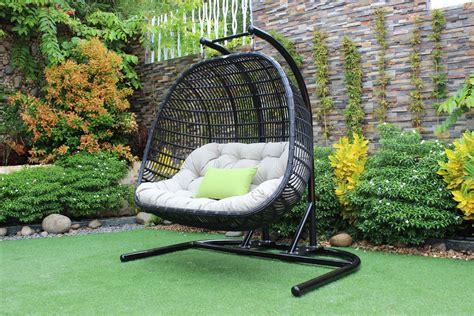 renava san juan outdoor black beige hanging chair outdoor