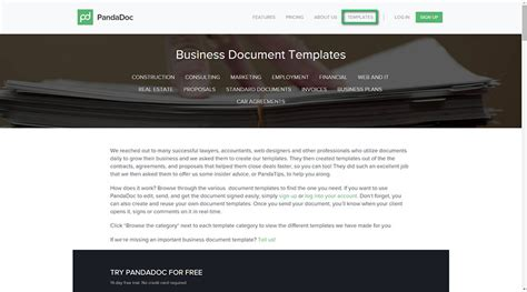 pandadoc templates website redesign template get free sle