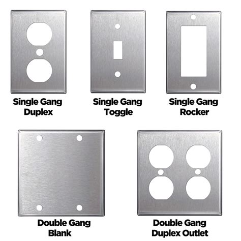 stainless steel wall plates single double gang blank