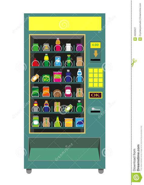 Green Vending Machine Vector Isolated On White. Stock Vector   Image: 49232627